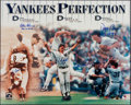 Baseball Collectibles:Photos, Yankees Perfection Multi-Signed Oversized Photograph - With Berra & Girardi....