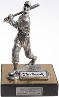 """Autographs:Others, Stan Musial Signed """"The Legend Lives"""" Pewter Statue...."""