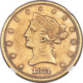 Liberty Eagles, 1874-S $10 AU50 NGC....