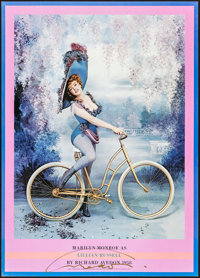 "Marilyn Monroe as Lillian Russell by Richard Avedon (First Edition, 1983). Autographed Poster (20"" X 28""). Mis..."