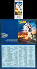 "Movie Posters:Science Fiction, Back to the Future (Universal, 1985). Programs (2) (4 Pages 9"" X12"") & Sneak Preview Ticket. Science Fiction.. ... (Total: 3Items)"