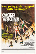"Movie Posters:Sexploitation, Caged Virgins (Brandon, 1971). One Sheet (28"" X 42"") & Photos(8) (8"" X 10""). Sexploitation.. ... (Total: 9 Items)"