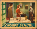 """Movie Posters:Crime, Crime School (Warner Brothers, 1938). Linen Finish Lobby Card (11""""X 14""""). Crime.. ..."""
