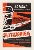 "Movie Posters:Documentary, Blitzkrieg (National, 1962). British One Sheet (27"" X 40""). War Documentary.. ..."