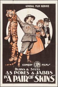 """A Pair of Skins (General Film, 1916). One Sheet (27"""" X 41""""). Comedy"""