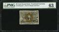 Fractional Currency:Second Issue, Fr. 1283-SP 25¢ Second Issue Narrow Margin Face PMG Choice Uncirculated 63.. ...
