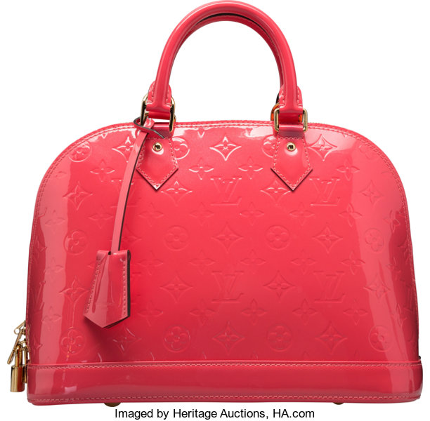 Louis Vuitton Rose Litchi Pink Monogram Vernis Leather Alma PM  b2df3ac2effab