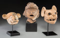 Pre-Columbian:Ceramics, Three Pre-Columbian Heads... (Total: 3 Items)