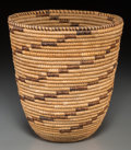 Tribal Art, An African Coiled Basket...