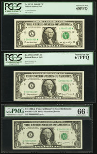 High Third Party Grades and Low Three and Four-Digit Serial Number $1 FRNs. Serial 00002233 Fr. 1901-E 1963A PC