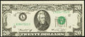 Error Notes:Shifted Third Printing, Shifted Third Printing and Miscut Fr. 2071-L $20 1974 Federal Reserve Note. Choice Crisp Uncirculated.. ...