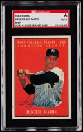 Baseball Cards:Autographs, Signed 1961 Topps Roger Maris #478 SGC Authentic....