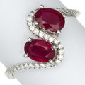 Estate Jewelry:Purses, Diamond, Ruby, White Gold Ring . ...