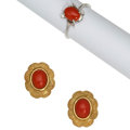 Estate Jewelry:Lots, Coral, Gold Jewelry . ... (Total: 2 Items)