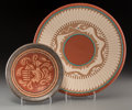 American Indian Art:Pottery, Two San Ildefonso Polychrome Plates . Russell Sanchez and JohnGonzales . c. 2000. ... (Total: 2 Items)