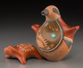 Other, Two San Ildefonso Pottery Items. Russell Sanchez and Alfred Aguilar. c. 2000... (Total: 2 Items)