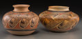 American Indian Art:Pottery, Two Hopi Polychrome Jars. Fannie Nampeyo. c. 1970... (Total: 2Items)