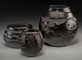 American Indian Art:Pottery, Three Santa Clara Blackware Jars. Margaret Tafoya, Ethel Yazza,Mida Tafoya. c. 1980... (Total: 3 Items)