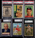 Baseball Cards:Lots, 1948-67 Swell & Topps Baseball Graded Collection (6)....