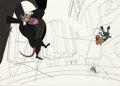 Animation Art:Production Cel, The Great Mouse Detective Ratigan and Olivia Production CelSetup (Walt Disney, 1986). ...