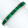Estate Jewelry:Rings, Emerald, Platinum Eternity Band. ...