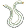 Estate Jewelry:Necklaces, Jade, Gold, Yellow Metal Necklace . ...