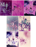 "Music Memorabilia:Photos, A Collection of Psychedelic Color Photographs by Dunstan PereiraDepicting the Los Angeles Cast from ""Hair: The American Triba..."
