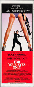 "Movie Posters:James Bond, For Your Eyes Only (United Artists, 1981). Insert (14"" X 36""). James Bond.. ..."