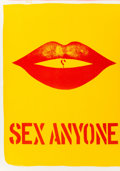 Prints:Contemporary, Robert Indiana (b. 1928). Sex Anyone, from the 1 CentLife portfolio, 1964. Lithograph in colors on wove paper.16-1...