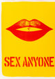 Robert Indiana (b. 1928) Sex Anyone, from the 1 Cent Life portfolio, 1964 Lithograph in colors on wove paper 16-1