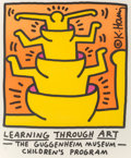 Prints:Contemporary, After Keith Haring (1958-1990). Learning Through Art, TheGuggenheim Museum, Children's Program, 1990. Offsetlithograph...