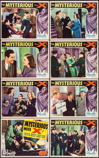 "The Mysterious Miss X (Republic, 1939). Lobby Card Set of 8 (11"" X 14""). Mystery. ... (Total: 8 Items)"