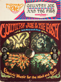 Music Memorabilia:Posters, Country Joe and the Fish Electric Music for The Mind andBody Rare Counter Display (1967)....