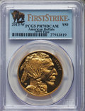 Modern Bullion Coins, 2013-W $50 One-Ounce Gold Buffalo, First Strike PR70 Deep Cameo PCGS....