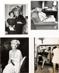 Movie/TV Memorabilia:Photos, A Marilyn Monroe Group of Black and White Press Photographs,1950s.... (Total: 4 )