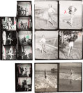 Movie/TV Memorabilia:Photos, A Marilyn Monroe Group of Rare Black and White Contact Sheets,Early 1950s.... (Total: 3 )