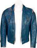 Music Memorabilia:Costumes, Gram Parsons Blue Leather Jacket (Circa 1969)....