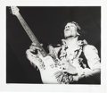Music Memorabilia:Photos, Jimi Hendrix Limited Edition Black and White Photo by Bruce Fleming(1967)....