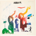 Music Memorabilia:Autographs and Signed Items, ABBA Signed The Album Stereo LP (Sweden - Polar POLS 282,1977)....
