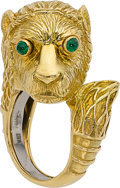 Estate Jewelry:Rings, Emerald, Gold Ring, David Webb. ...