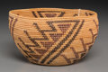 American Indian Art:Baskets, A Yokuts Coiled Polychrome Bowl. c. 1920...