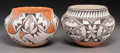 American Indian Art:Pottery, Two Acoma Polychrome Jars . Grace Chino and Rose Chino Garcia. c.1960 and 1980... (Total: 2 Items)