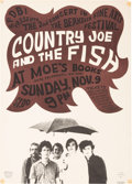 Music Memorabilia:Posters, Country Joe And The Fish - Two Concert Posters (1966). ...
