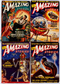 Pulps:Science Fiction, Amazing Stories Group of 14 (Ziff-Davis, 1939-52) Condition:Average VG.... (Total: 14 Comic Books)