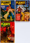 Pulps:Science Fiction, Planet Stories Group of 3 (Fiction House, 1947-51) Condition:Average VG.... (Total: 3 Items)