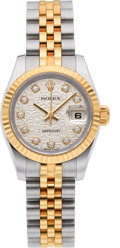 Estate Jewelry:Watches, Rolex Lady's Diamond, Gold, Stainless Steel DateJust Watch. ...