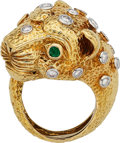 Estate Jewelry:Rings, Diamond, Emerald, Platinum, Gold Ring, David Webb . ...