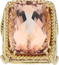 Estate Jewelry:Rings, Morganite, Colored Diamond, Gold Ring, Mish NY. ...