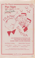 Movie/TV Memorabilia:Autographs and Signed Items, A Frank Sinatra Signed Flyer, 1985....