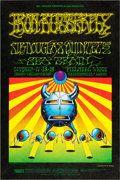 Music Memorabilia:Posters, Iron Butterfly Fillmore West Concert Poster BG-141 Signed by VictorMoscoso (Bill Graham, 1968)....
